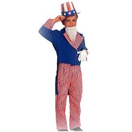 Rubies Costume Company Uncle Sam Child Med 8-10