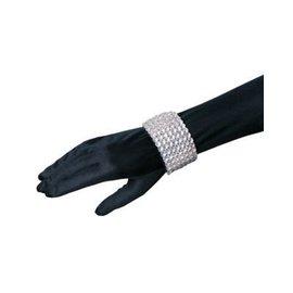 Costume Culture by Franco American Rhinestone Bracelet Elastic (C14)