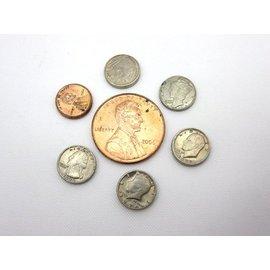 "Loftus International Dozen Mini U.S. Coins - 3/8"" Dime - Coin (M10)"