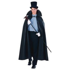 Rubies Costume Company 63 inch Leather Look Cape