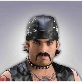 Forum Novelties Biker Moustache, Black