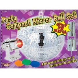 Forum Novelties Compact Mirror Ball Set, 8 inch