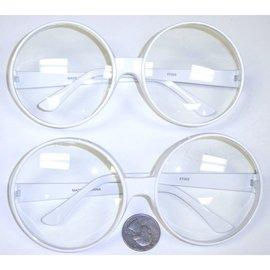 Big Rounders White Frame Glasses