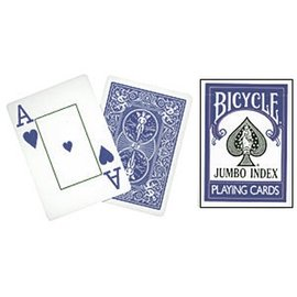 United States Playing Card Company Card Bicycle, Jumbo - Blue