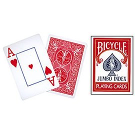 United States Playing Card Company Card Bicycle, Jumbo - Red