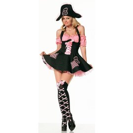 Costume Roads Pink Pirate Treasure - Size Med