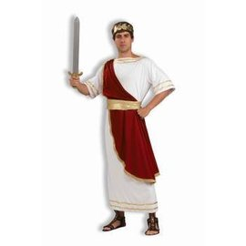 Forum Novelties Toga Julius Caesar, Red Drape- Adult 42