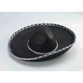 Forum Novelties Black and Silver Sombrero