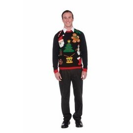 Forum Novelties Christmas Sweater, Everything - XL 46-48