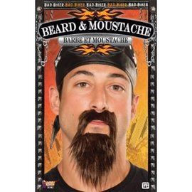 Forum Novelties Beard And Moustache Biker Black