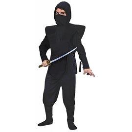 Morris Costumes Complete Black Ninja - Child Med