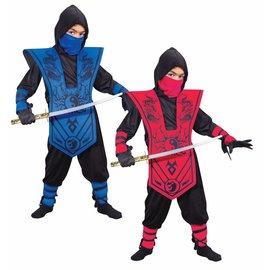 Fun World Complete Red Ninja - Child Med 8-10