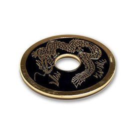 Royal Magic Chinese Coin (Black - Ike Dollar Size) by Royal