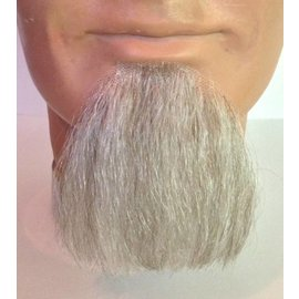 Lacey Costume Wig 1 Point Beard Goatee White - Human Hair