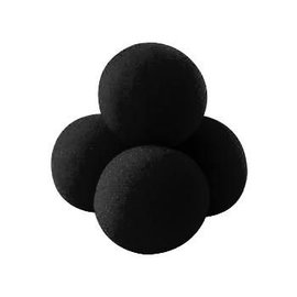 Fun inc. 1 1/2 inch 4 Super Soft Sponge Balls - Black (M13)