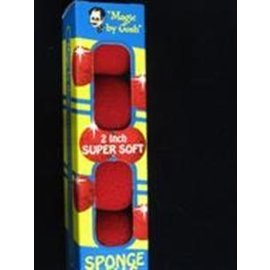 Magic By Gosh 2 inch Super Soft Sponge Balls - Red (M13)