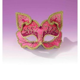 Forum Novelties Fancy Half Mask MM-075 Pink Cat