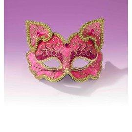 Forum Novelties Fancy Half Mask MM-075 Pink Cat