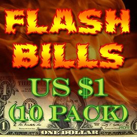 Red Corner Magic Flash Bills - Ten Pack $1.00 Denominations