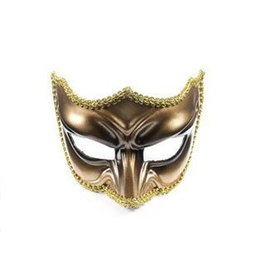 Forum Novelties Gold Venetian Half Mask IM-313-2