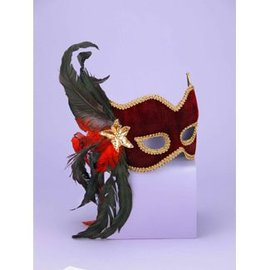 Forum Novelties Karneval Half Mask - Maroon MJ-023