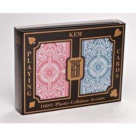 U.S. Playing Card Company Card KEM Arrow Red/Blue - Wide Jumbo  (M5)
