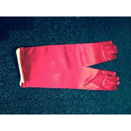 Beyco Gloves Red Elbow Length Satin