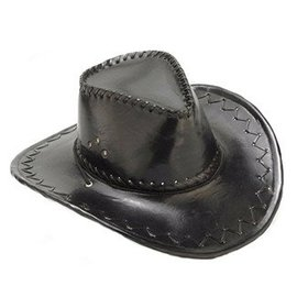 Forum Novelties Cowboy Hat - Black Faux Suede