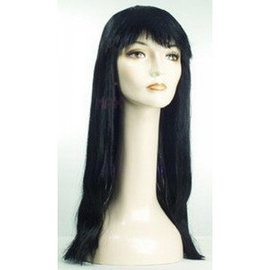 Lacey Costume Wig Long Pageboy, Black Wig