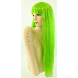 Lacey Costume Wig Long Pageboy, Green Wig