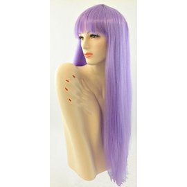 Lacey Costume Wig Long Pageboy, Purple Wig