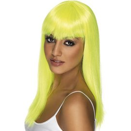 Lacey Costume Wig Long Pageboy Yellow Wig