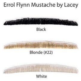 Lacey Costume Wig Moustache - Errol Flynn, Black