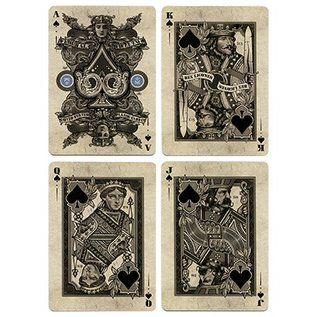 King's Wild Project Bicycle Silver Certificate Deck by Gambler's Warehouse