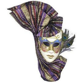 Forum Novelties Venetian Eyemask with Peacock Feathers