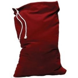 Halco Burgundy Velvet Toy Bag