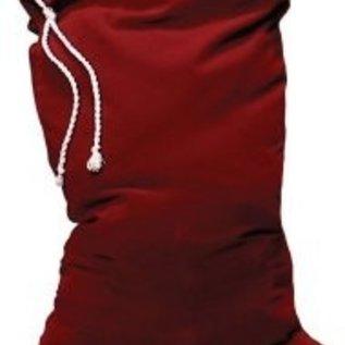 Halco Burgundy Velvet Toy Bag