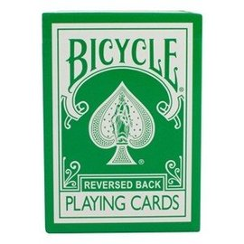 Magic Makers Reversed Back Bicycle Deck - Green (Bicycle Green Deck 2nd Generation)