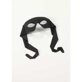 Rubies Costume Company Eye Mask - Masked Man w/Ties Black