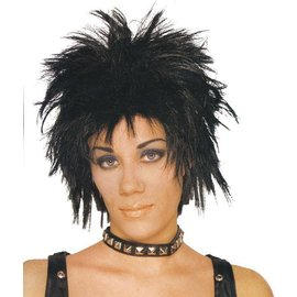 Costume Culture by Franco American Short Rocker Wig - Unisex Black