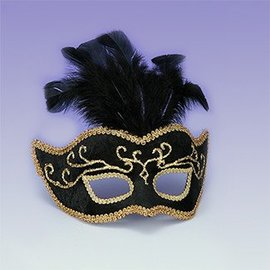 Forum Novelties Venetian Mask Black - Best Ever MJF-140
