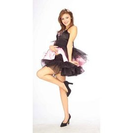 Forum Novelties Short Crinoline Slip - Black Size 14/16