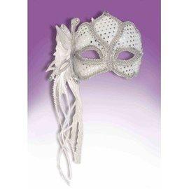 Forum Novelties Venetian Mask - Silver Butterfly #ME-283F