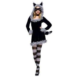 Fun World Racy Raccoon Med/Lrg 10-14