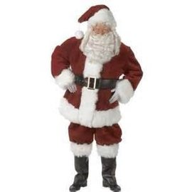 Halco Santa Hat - Luxury Plush Burgundy