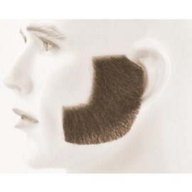 Lacey Costume Wig Sideburns - Synthetic, Brown