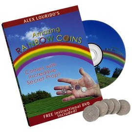 Psychotic Neurotics Magic Rainbow Coins (With DVD) by Alex Lourido- Coin (M10)