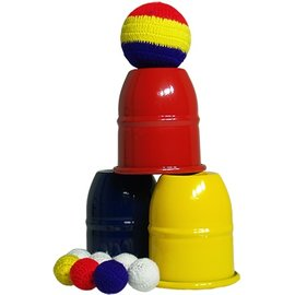 Nik Hils Magic Technicolor Cups And Balls With/Color Changing Balls