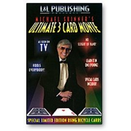 L and  L Publishing Card - Ultimate 3 Card Monte, Blue by Michael Skinner (M10)