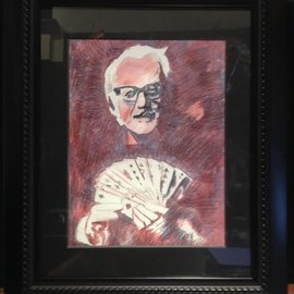 Alex MccAffrey Framed Dai Vernon Portrait - Original Artwork